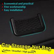 Vycloud(TM) New Black Car Net Organiser Pockets Car Storage Net 15X8cm Automotive Bag Box Adhesive Visor Car Bag For Tools Mobile Phone75