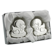 Cute Silver plated First Tooth/First Curl/Duckling Gift Set ""