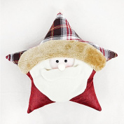 Kenmont Christmas Pentagram Shape Cushion Pillow Xmas Throw Pillows Plush Soft Toys for Christmas, Kids Gifts, Living Room Bedroom Home Decoration