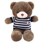 Finer Shop Huggable and Adorable Smiling Hedgehog Bear with Blue White Stripes Sweater Soft Stuffed Plush Toy Doll 100cm