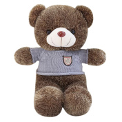 Finer Shop Huggable and Adorable Smiling Hedgehog Bear with Blue Sweater Soft Stuffed Plush Toy Doll for Kids 100cm