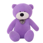 Finer Shop 1.2M Giant Huge Cuddly Stuffed Animals Plush Teddy Bear Toy Doll for Kids Child Girlfriend (120cm ) - Purple