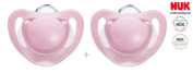 """NUK """"TRENDLINE"""" Nr.10.735.201 - 2x Pacifiers Soothers Dummnies Anatomical Silicon/ PINK"""