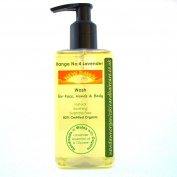 Lavender Organic Face, Hand & Body Wash, Shower Gel, Liquid Soap, Handmade. Vegan. Natural Skin Care. 250ml