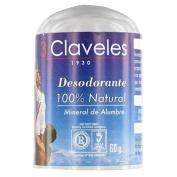 3 Claveles Alum Deodorant Mineral 100% Natural 60 Gr