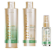 Avon Advance Techniques Daily Shine Set includes Shampoo, Leave in Treatment and Dry Ends Serum - NOT BOXED