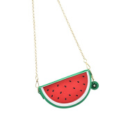 Hrph Watermelon Orange Shaped Bag Evening Clutch Bag Fruit Chain Messenger Small Crossbody Bags For Women Purses