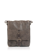 Brown Rowallan Brushwood Small Vintage Real Leather Messenger Bag