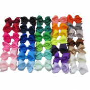7.6cm Grosgrain Ribbon Hair Bows With Clips Baby Hairbow for Hair Accessories