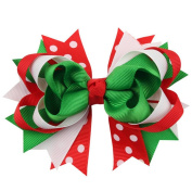DAYAN 1pcs Christmas Baby Children Hair Bows Alliger Clip Accessories