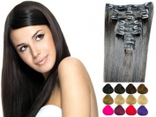 10 Piece Clip In Hair Extensions Real Human Hair Extensions Many Colours 100GRAMM