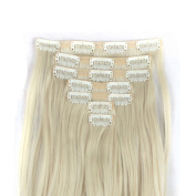 FLORATA 60cm DOUBLE WEFT Full Head 7pcs Long Curly Clip in Hair Extensions