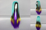 Women's Wig Cosplay Wig Farbmix Turquoise 80 cm Straight