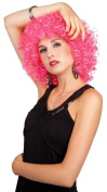 Short Curl Club Curl Wig for Fancy Dress Parties/Disco, in Pink