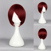 Women's Wig Cosplay Wig Red 35 cm Straight Starry Sky Yoh Tomoe Wine