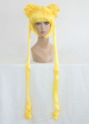 Women's Wig Cosplay Wig 100 cm Straight Yellow Sailor Moon Bunny Usagi Tsukino