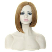 Tonake Short Blonde Mushroom Haircut Wig Synthetic Women Girl Wig