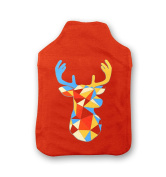 Geometric Stag Hot Water Bottle Cover