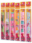 OFFICIAL TROLLS DREAMWORKS 6PK SNAPPY SNAP BRACELETS BANGLES KIDS SCHOOL PARTY BAGS CHRISTMAS GIFT .