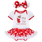 iEFiEL Baby Girls' My First Christmas Costume Romper Outfits Fancy Party Dress Clothes
