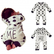 Puseky Toddler Kids Baby Boy Gril Dot Long Sleeve Cotton Romper Jumpsuit Clothes