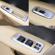 Car Interior Door Armrest Window Switch Cover Trim fit Nissan Qashqai 2011 2012 2013 ABS Chrome