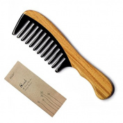 EQLEF® Handmade Premium Quality Natural Ox Horn Comb Sandal Wood Comb, no static handmade comb, wide tooth