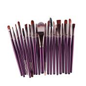 CINEEN 20 Pcs Makeup Brush Set tools Make-up Toiletry Eyeshadow Eyeliner Lip Makeup Brushes,Purple+ Brown