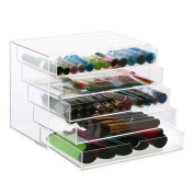 Hotrose 5 Drawers Cosmetic Organiser Clear Acrylic Make Up Jewellery Case