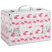 Beautify Professional Large Lockable Vanity Make Up Beauty Storage Case - Pink Flamingo