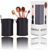 Beau Belle Oval Mastery Brush Pot - Oval Brush Set - Oval Brush Set Holder - Oval Makeup Brush Set - Oval Makeup Brushes - Make Up Brushes - Makeup Brushes - Oval Brushes