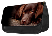 Chocolate Lab Dog Pencil Case / Make up bag 078