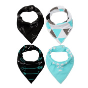 Baby Bibs and Burp Cloths, PYRUS Bandanas Drool Bibs for Drooling and Teething Gift Set for Boys and Girls