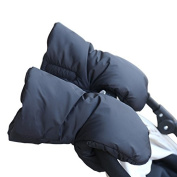 1 Pair Baby Stroller Handmuffs Warm Fur Fleece Gloves Kids Pram Gloves Pushchair Hand Muff Baby Buggy Winter Accessory