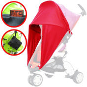 iSafe Sunny Sail - Red For Chicco Echo Stroller