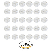 LeeRose 30 Pcs Baby Child Safety Power Board Socket Covers Outlet Point Plug Protector Guard