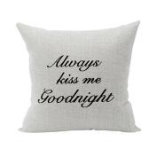 Nunubee Super Soft Pillowcase Cotton Cushion Cover Square Decorative Home Accessories Black Words 2