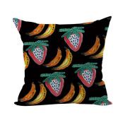 Nunubee Super Soft Pillowcase Cotton Cushion Cover Square Decorative Home Accessories Colourful Fruit