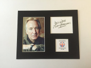 LIMITED EDITION ALAN RICKMAN SIGNED DISPLAY PRINTED AUTOGRAPH AUTOGRAPH AUTOGRAF AUTOGRAM SIGNIERT SIGNATURE MOUNT FRAME
