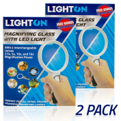 LED Magnifying Glass with Light by LightOn With 4 Interchangeable Lenses 2.5x 5x 10x & 16x Magnification Power Perfect for Maps Detailed Repair Senior Reading Jewellery Flowers & Insects Coins and More!