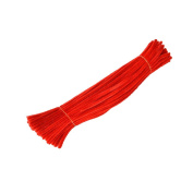 100 Pieces Chenille Stems Pipe Cleaners For Kids Craft Educational Toys 300 x 6 mm Red