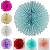 5pcs 20cm Paper Wheel Fan Flowers Wedding Party Decor