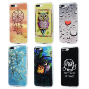 iPhone 7 Plus Case (14cm ) - 6 Pcs Shockproof Flexible Soft TPU Rubber Skin Gel Bumper Case with IMD Technology Anti Colour-fading Print Patterns Slim Fit Protective Cover by Badalink - Group 2