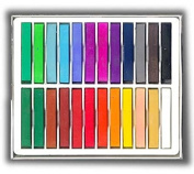 24 Soft Chalk Pastels Set for Art Drawing, Scrapbooking & More -Assorted Colours