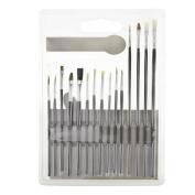 Artist Paint Brush Set--15pcs PVC Bristle Brushes for Oil Paints,Acrylic Paints,Watercolour Paints