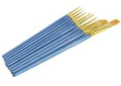 Artist Paint Brush Set--10pcs Professional Nylon Wool Brushes for Oil/Acrylic/Watercolour Painting