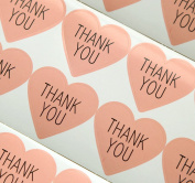 GANSSIA Heart Design Thank You Printed Gift Seal Sticker Colour Pink Pack of 320 Pcs