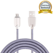 NOKEA 1 Pack 0.9m [Purple] Lightning Cable Charging Cord Nylon Braided Micro USB Cable Charging Cord Wire Universal for Samsung, Nexus, LG, HTC, Motorola, Nokia, Android