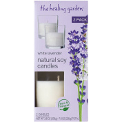 The Healing Garden White Lavender Natural Soy Candles, 110ml, 2 count