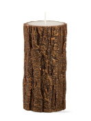 Tag Gilded Tree Bark Pillar Candle